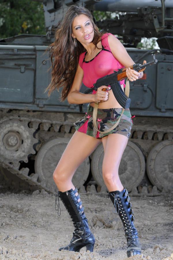 Cyber Angel Amanda in high boots