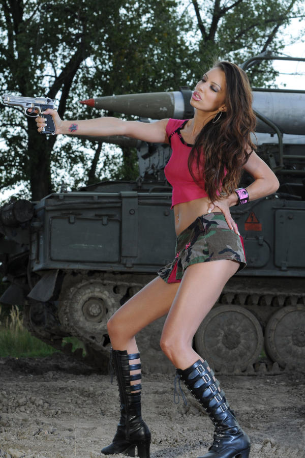Cyber Angel Amanda in military outfit
