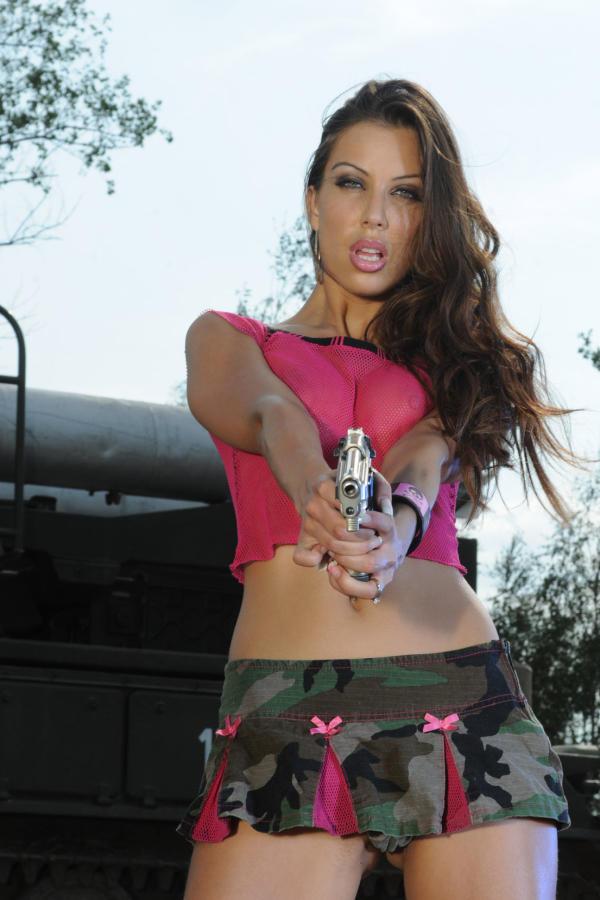 Cyber Angel Amanda aiming at you