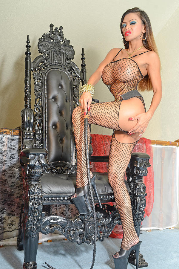 Cyber Angel Armie with big gothic chair