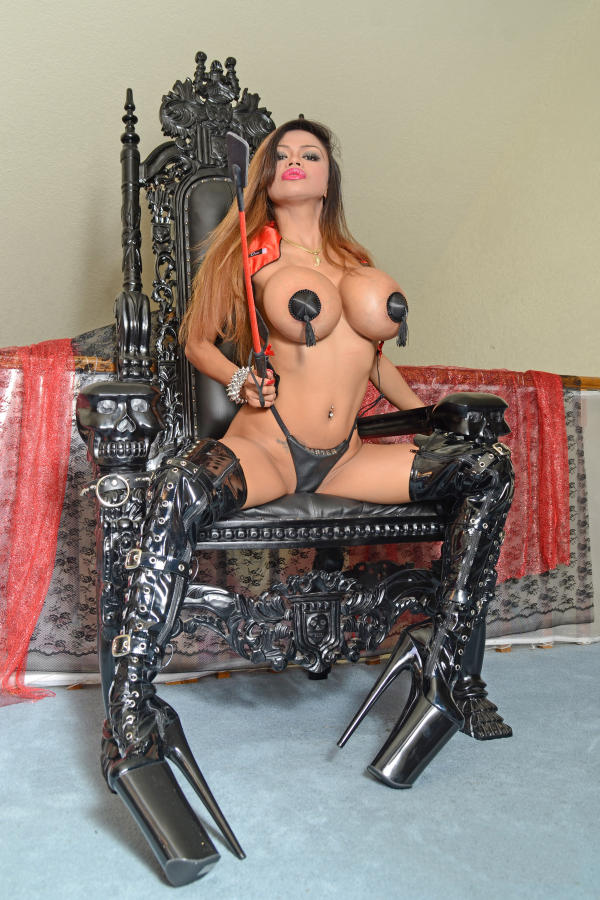 Cyber Angel Armie with high black boots