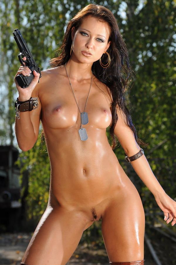 Cyber Angel Kristina with trimmed bush