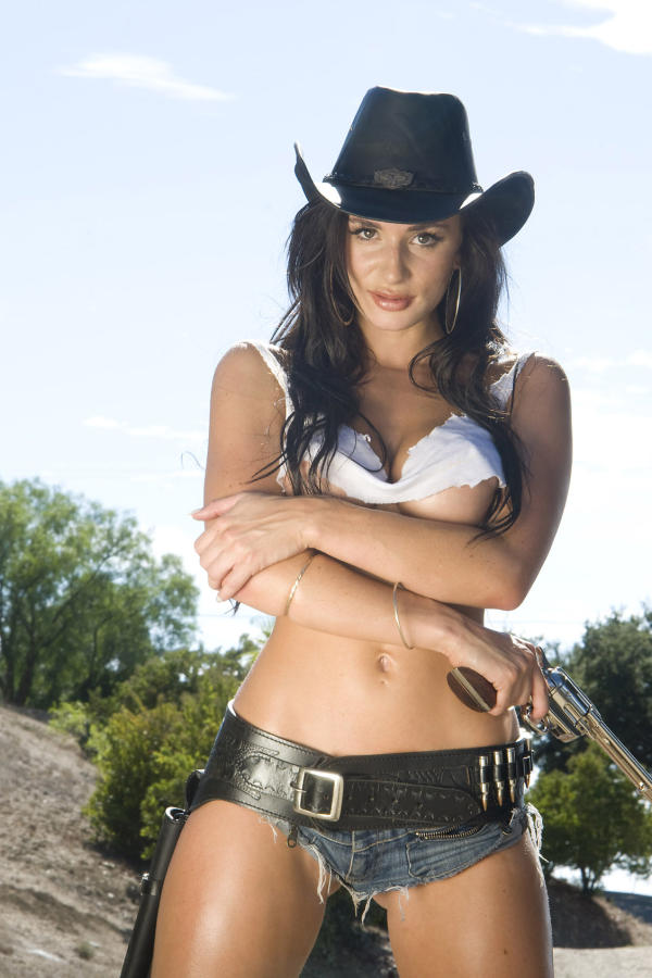 Cyber girl Rosie with cowboy hat