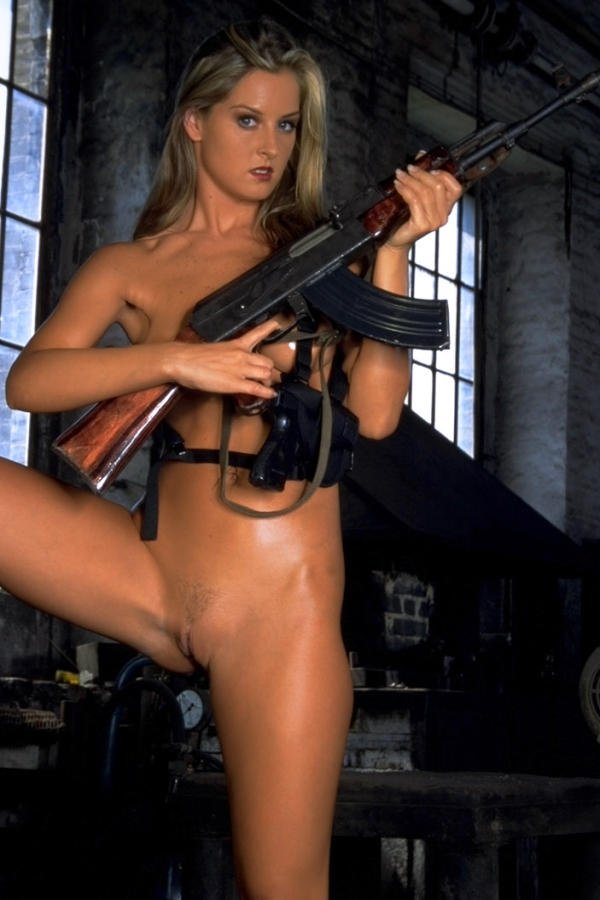 Cyber Angel Silvie nude with pistol