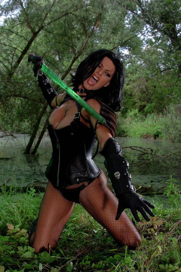Cyber Angel Vanessa fantasy sword