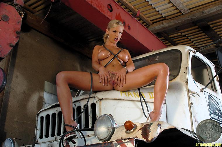 Cyber Angel Yana and old truck